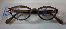 Vintage Best Optical Debutant Solid Cognac 44/20 Eyeglass Frame New Old Stock