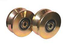 """4"""" V Groove Wheel Double Bearing Sliding Gate 3000 lbs Roller Slide+Screw-2pack"""