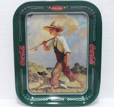 Coca-Cola - BOY and DOG - anno 1990-VASSOIO Industria italiana Coca-cola
