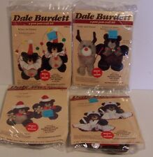 Teddy Bear Pom Pom Craft Kits Santa Nurse Reindeer Clown Kids Dale Burdett VTG