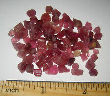 PILE OF SMALL NATURAL PINK RUBELLITE TOURMALINE CRYSTAL MINERAL PIECES 91cts 2