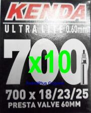 10x Kenda 700c PRESTA Ultra Lite Light Road Tube 700x18/23/25 F/V 60mm Valve 68g