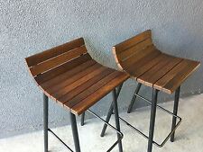 2 VISTA FURNITURE COMPANY VINTAGE BAR STOOL MID CENTURY MODERN CHAIR ERA