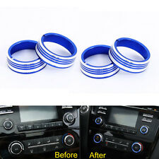 Centeral Air Conditioner Button Cover Ring CD Sound Knob Trim For 2016 Qashqai