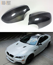 100% REAL VACUUMED DRY CARBON FIBER SIDE MIRROR COVER CAPS FOR BMW E92 M3 COUPE