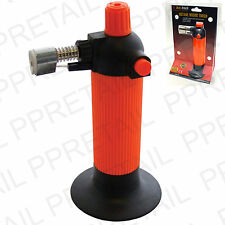 NEW BUTANE GAS TORCH WITH STAND Soldering Welding Flame Burner Gun REFILLABLE