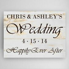 Rustic Wedding Reception Personalized Canvas Wall Sign House Warming Home Decor
