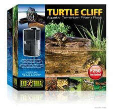 Exo-Terra Medium Turtle Habitat Terrarium Tank Cliff Filter Rock & Pump