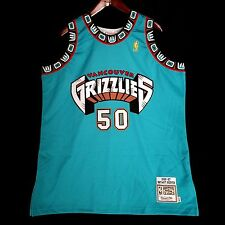 100% Authentic Mitchell Ness Bryant Reeves Grizzlies Jersey Size 48 XL