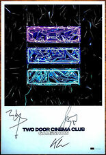 TWO DOOR CINEMA CLUB Gameshow 2016 Ltd Ed #'d Signed By All 5 Lithograph Poster!