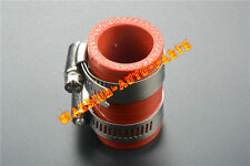 """FOR HONDA CR80 CR125 CR250 CR450 HIGH TEMP EXHAUST COUPLING CLAMP 1"""" ID 1PC RED"""