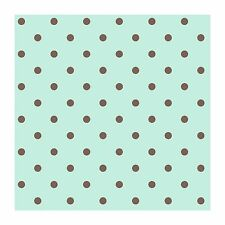 Chocolate Brown Polka Dots on Sea Green Wallpaper KD1732