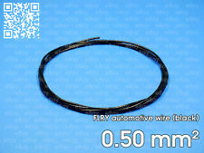 Automotive wire FLRY 0.5mm², black color, 1 meter length