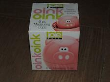 JOIE OINK OINK 6 PIECE MEASURING CUPS SET PINK PIGS STACKABLE