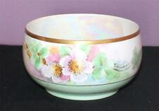 "Vintage THE BARONIAL Bavaria Hand Painted Lusterware WILD ROSES 5""x2 3/4""h Bowl"