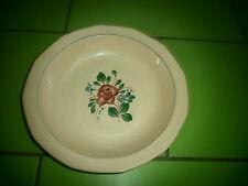 PLAT   CREUX    Sarreguemines    vieux  rose    TBIEN  27 CM