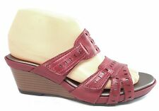Clarks Lucia Sun Red Rouge Womens Summer Shoes Wedge Sandals 6.5 M EUR 38