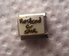 """HUSBAND FOR SALE"" 9MM ITALIAN CHARM-COUPLES, WIFE, SPOUSE"
