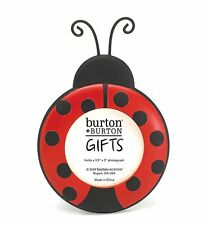 "Ladybug Round Picture Frame Adorable Photo Frame 3.5"" x 5"" Photo Holder. Cute!"