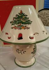 Spode Christmas Tree • Pierced Lamp Tea Light Candle Votive • NEW in Box