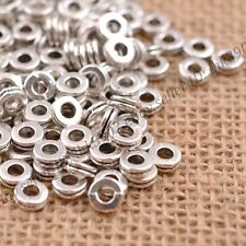 100Pcs Tibetan Silver/Gold/Bronze Rings Spacer Beads Jewelry Findings 6MM DB3039