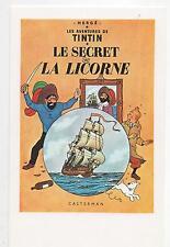 Carte postale Tintin Le Secret de la Licorne. ARNO 1984.  11,5 x 18 cm, 2 volets