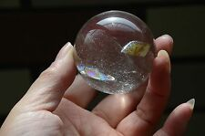 "Tibet Clear Crystal Quartz 47mm(1.85"") Ball  Sphere  With Great RAINBOWS"