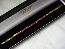 LADYS 14CT YELLOW GOLD RUBY AND DIAMOND BRACELET BRAND NEW IN BOX BEAUTIFUL