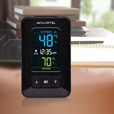 Acurite Wireless Home Digital Thermometer Indoor Outdoor Temperature W/ Clock