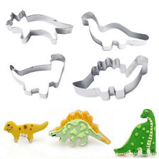 4X Patisserie Cake Mold Decorating Pastry Cookie Cutter Animal Dinosaur Mold New
