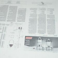 Coleman Lantern Operating Instructions and Parts List for Model number 285 & 295