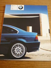 BMW 3 SERIES COUPE CAR BROCHURE 2001/02