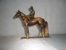 ANTIQUE METAL HORSE AND JOCKEY MATCH / STRIKER LIGHTER (racehorse)