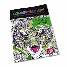 Colour Therapy Anti Stress Colouring Book Amazing Animals (64 Pages)