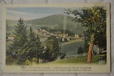 """CPA """" LA LOUVESC - Vue prise du Mont Besset sur la Ville et le Mont Chaix"""