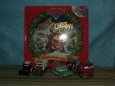 Disney Pixar Cars Lot: Mater Saves Christmas *CUSTOMS with Book* FLO with MUFFS