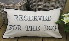 RESERVED FOR THE DOG CUSHION LINEN COVER DOG LOVER PET GIFT - FREE DELIVERY