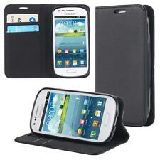 Samsung Galaxy S3 mini i8190 i8200 Wallet Flip Case Cover Magnet Bag Bumper