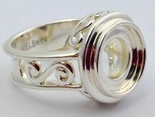 Authentic Kameleon Sterling Silver Scroll Ring Ring Kr-2 Kr002  Size 7, New