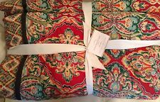 Pottery Barn Full/Queen Harlow Wholecloth Quilt NWT! F/Q Red Bohemian