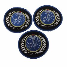 Star Trek United Federation of Planets Symbol Embroidered Patch Set of 3