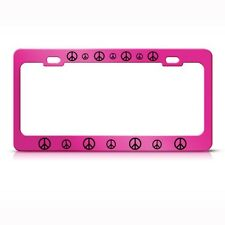 PEACE SIGN Metal License Plate Frame Tag Holder Tag