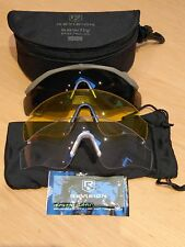 British Army Revision Sawfly Spectacles, Safety Glasses, Tan Frames and 3 lenses