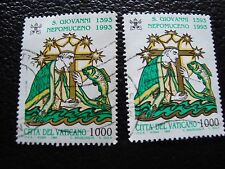 VATICAN - timbre yvert et tellier n° 961 x2 obl (A28) stamp