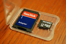 2GB MICROSD CARD with SD adapter Mobil Memory for older camera PHONE Aqua 5800