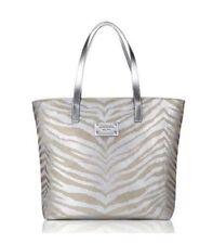 KORS Glamour plata/oro MICHAEL Tiger Print Lona Tote Bolso NUEVO, Shopper