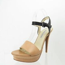 Women's Shoes Vera Wang Lavender Nina Natural Black Platform Sandal Size 9 M NEW