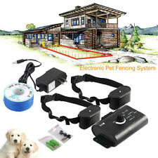 Electric Dog Fence System Underground  Waterproof 2 Shock Collars for 2 Dogs