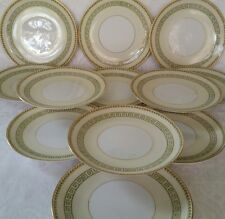 "12 Noritake M China Musetta 3702 Salad/Lancheon Plates 7 1/4"" Greek Key Japan"