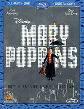 Mary Poppins 50th Anniversary Edition NEW Blu-Ray/DVD/Digital Copy FactorySealed